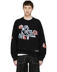 KENZO - Black Sketch Memento Sweatshirt - Lyst