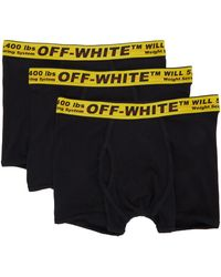 Off-White c/o Virgil Abloh 3-pack Black Industrial Boxer Briefs