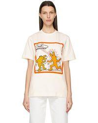 Etudes Studio Keith Haring エディション オフホワイト Wonder Dancing Dogs T シャツ