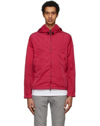 Moncler - Red Hooded Jacket - Lyst