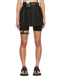 Hyein Seo Ssense Exclusive Pleated Miniskirt - Black