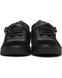 1017 ALYX 9SM Baskets en cuir noires Buckle
