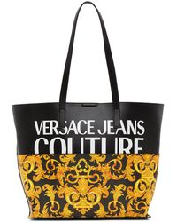 Versace Jeans Couture Black Baroque Logo Tote
