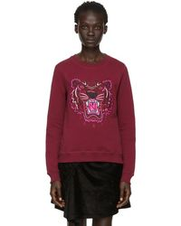 KENZO - Red Limited Edition Holiday Tiger Sweatshirt - Lyst