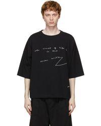 JW Anderson Oscar Wilde コレクション ブラック オーバーサイズ シャツ