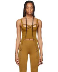 CHARLOTTE KNOWLES - Ssense 限定 タン Tactical Bustier タンク トップ - Lyst