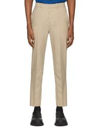 3.1 Phillip Lim Beige Wool Needle Trousers - Natural