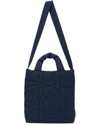 KENZO Navy Quilted Arctik Tote - Blue