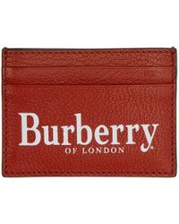 Burberry - Logo Print Leather Card Case - Lyst