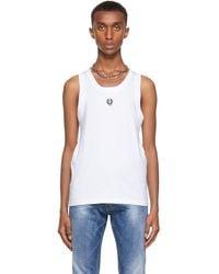 Dolce & Gabbana ホワイト ロゴ タンク トップ
