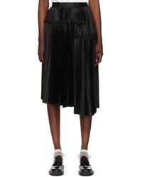 Noir Kei Ninomiya Jupe noire plissée