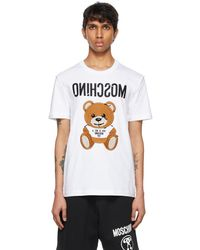 Moschino ホワイト Inside Out Teddy Bear T シャツ