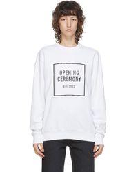 Opening Ceremony ホワイト Box ロゴ スウェットシャツ