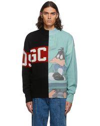 Gcds Looney Tunes コレクション カラーブロック クルーネック セーター - ブラック