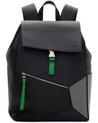 Loewe Navy Puzzle Backpack - Black