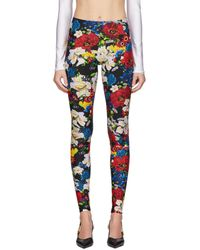 Versace Legging fleuri multicolore exclusif à SSENSE