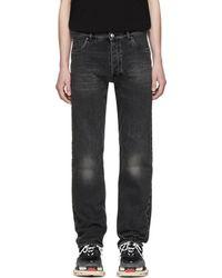 Balenciaga Jean noir Destroyed Hem 5