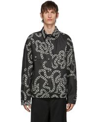 Etudes Studio Gray Denim Vertige Chainz Jacket