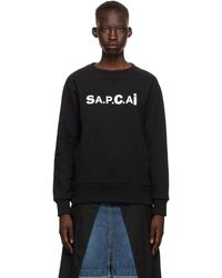 A.P.C. - Sacai エディション ブラック Tani スウェットシャツ - Lyst