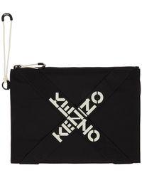 KENZO - ブラック ラージ Sport ポーチ - Lyst
