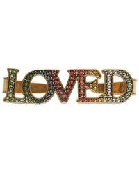 Gucci - Gold Loved Palm Cuff - Lyst