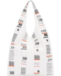 Maison Margiela - White Luggage Label Tote - Lyst