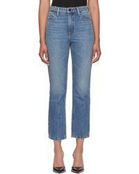 Alexander Wang - Indigo Cult Cropped Straight Jeans - Lyst