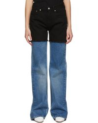 MM6 by Maison Martin Margiela & Black Splice Jeans - Blue