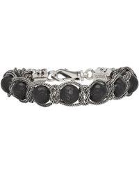 Emanuele Bicocchi - Silver And Black Beaded Bracelet - Lyst