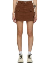 Marc Jacobs ブラウン ツイル ポケット スカート