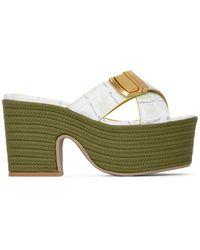 Jacquemus Green Les Sandales Tatanes Sandals