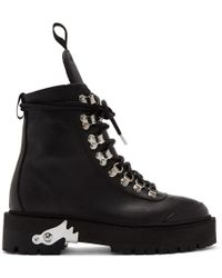 Off-White c/o Virgil Abloh Black Leather Ankle Boots
