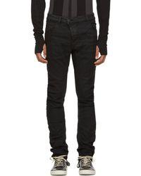 Boris Bidjan Saberi 11 Black Cotton Pants