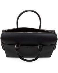 Saint Laurent Black Duffle Briefcase