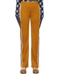 Wales Bonner Pantalon de survêtement jaune en coton - Multicolore