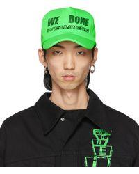 we11done Green Logo Trucker Cap