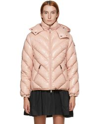 Moncler ピンク Brouel ダウン コート