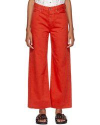 f465681d0 Simon Miller - Red Slided Jeans - Lyst