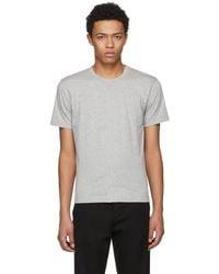 Comme des Garçons - Grey Basic T-shirt - Lyst