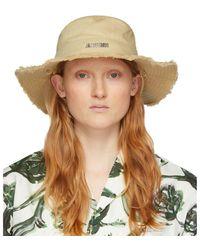 Jacquemus Beige Le Bob Artichaut Bucket Hat - Natural