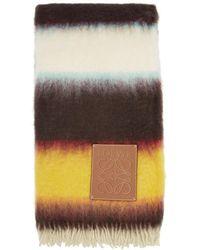 Loewe Multicolour Mohair Striped Blanket
