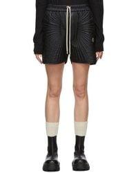 Rick Owens Black Moncler Edition Down Radiance Shorts