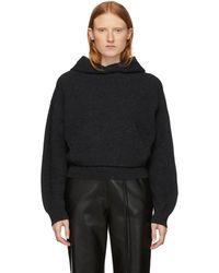 Nanushka Black Wool And Cashmere Mog Hoodie