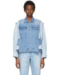SJYP ブルー デニム シャツ ジャケット