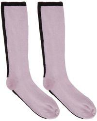 Haider Ackermann - Purple Beryl Plain Socks - Lyst