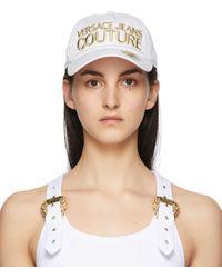 Versace Jeans Couture Casquette à logo blanche Institutional - Multicolore