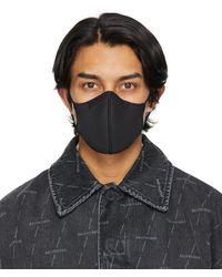 Balenciaga ブラック Care ロゴ マスク