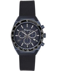 Ferragamo ネイビー Slx 腕時計 - ブルー