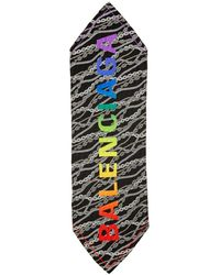 Balenciaga - ブラック チェーン スカーフ - Lyst