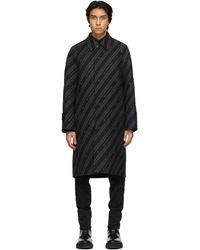 Givenchy - リバーシブル ブラック & グレー Chain コート - Lyst